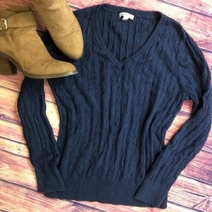 Merona Navy Blue Cable Knit Sweater *SALE ITEM